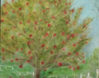 Apple Tree Oil Painting