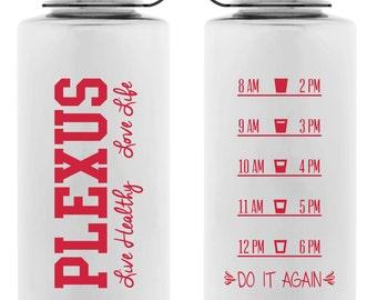 Clear Do It Again Pink Water Bottle- 34oz