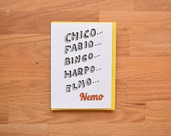 Nemo funny birthday card, funny birthday card friend, best friend birthday card, birthday card best friend, finding nemo, finding dory