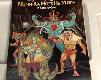 1985 Thundercats Mumma-ra meets his Match! Coloring book MINT UNUSED old stock