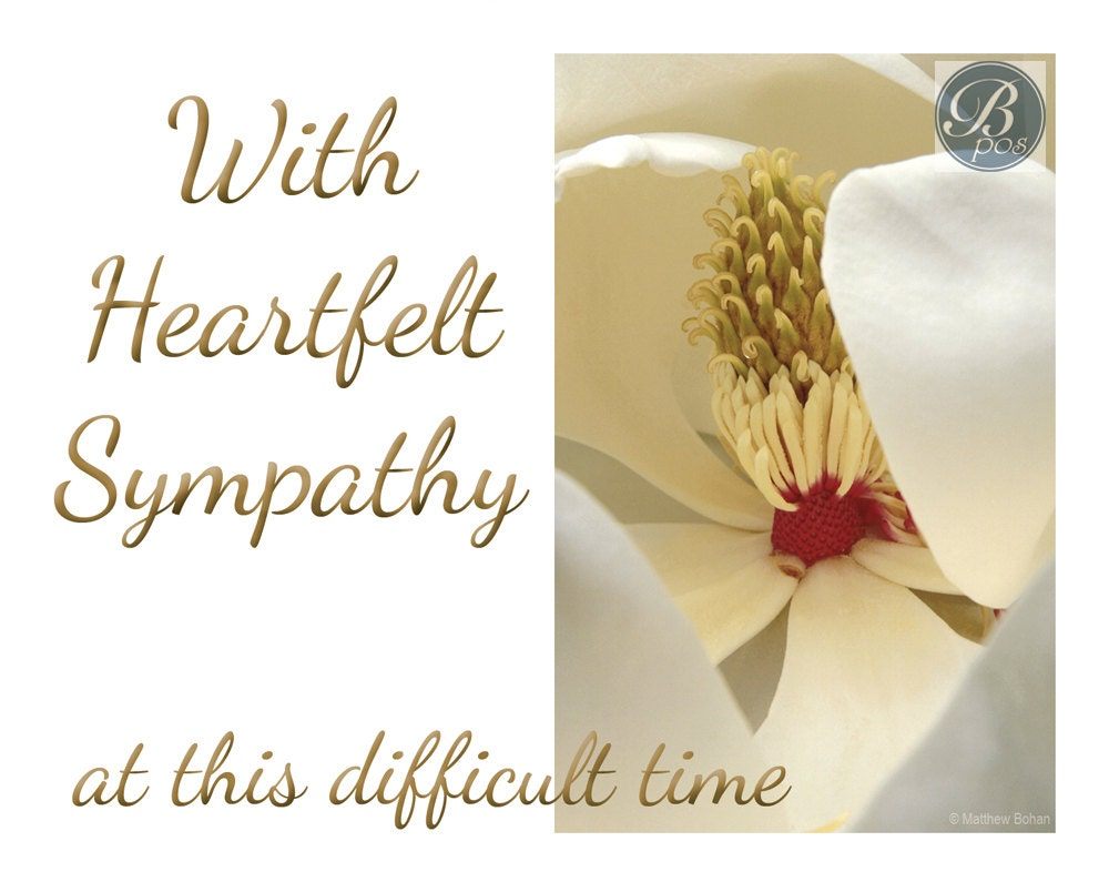 Effortless image for printable sympathy card