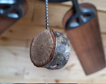 Wood Fan Pull, Wood Light Pull, Natural Wood Fan Pull, Natural Wood Light Pull, Unique Light Pull, Wood Branch Light Pull