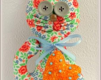fabric cat handmade toy Stuffed cat soft toy Stuffed Animals gift for children cloth toy kitten kitty plush soft toy Kids Toy plushy toy