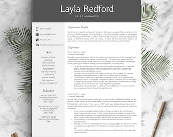 professional resume template for word and mac pages 1 2 3 page cv - Downloadable Resume Templates