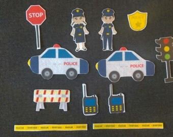 Police Officer Felt Board Set// Flannel Board Story Set // Preschool // Kids // Community Helper //
