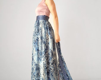 2 piece prom dress, lace dress, evening dress, prom long skirt two piece