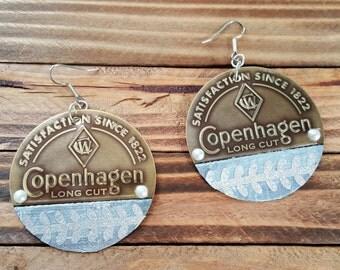 Copenhagen Long Cut Silver Stars Earrings
