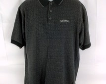 vtg 90s embroidered GMC logo polo shirt men's xl - extra large - rare design - vintage - car - auto - trucks - GM - Ford - Saturn