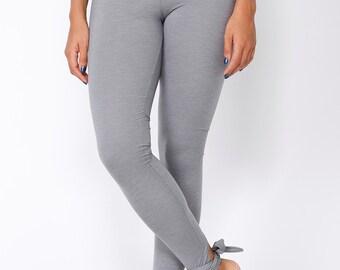 Leggings - Stirrup leggings - Yoga leggings - Gray leggings - Full length leggings - Gray tights - Active wear - Yoga pants - Womens Tights