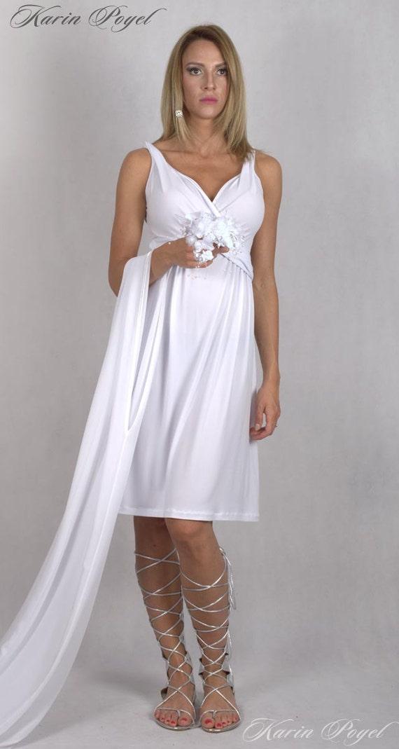 White Bridesmaid Dress /  Stretch Cocktail Dress / White Evening Dress / Sleeveless  Dress / KARIN # 12-034-01-10-00