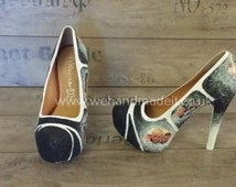 Custom made High heel photo shoes - any style, size or colour.  Wedding shoes, prom shoes, custom glitter shoes made to order