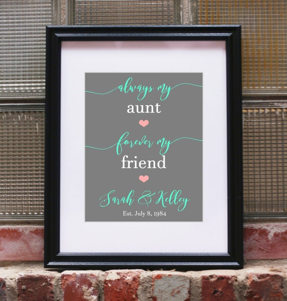 Wedding Gift For Aunt: Personalized Aunt Gifts For Aunts Gift Aunt Gift By SoleStudio