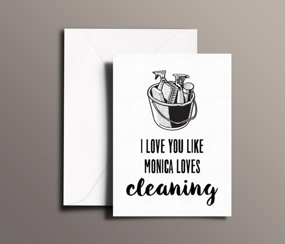Friends TV Show GREETING CARD I Love You Like By