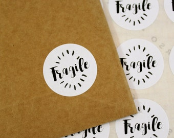 Set of 48 stickers tags, stickers, packaging, packaging, Fragile