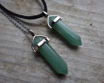 Green Aventurine. Crystal necklace. Crystal point necklace . Healing Crystal. Health and energy. Chakra necklace. Reiki pendant.