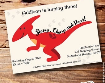 Cute dinosaur invite etsy dinosaur invitation dino invitation editable printable do it yourself instant download solutioingenieria Images