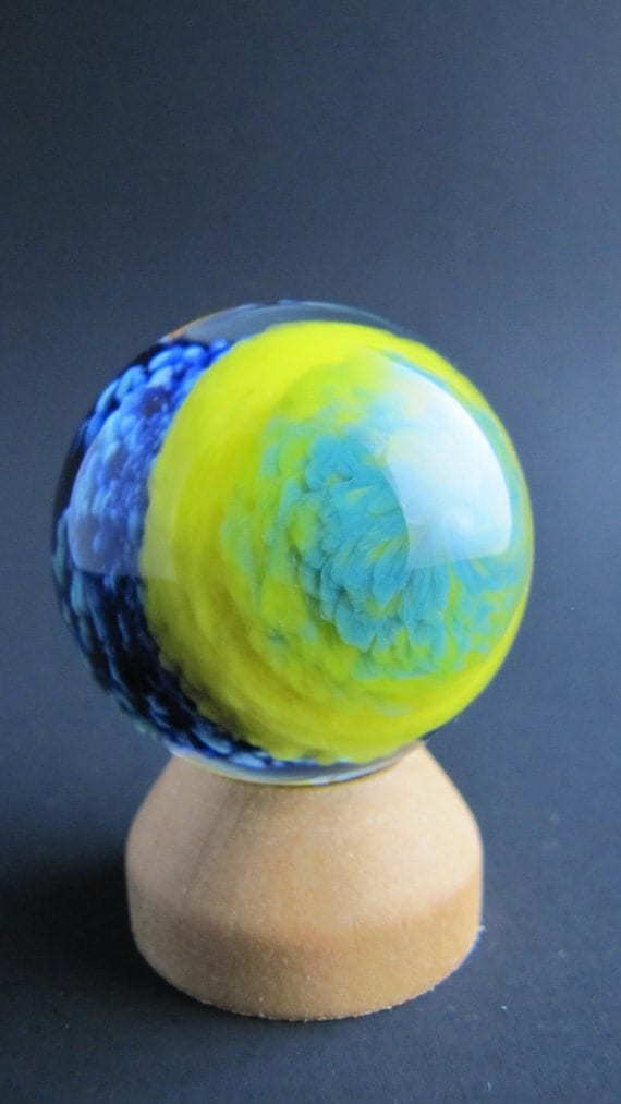 Color Glass Marble : Borosilicate glass marble colored sphere handmade