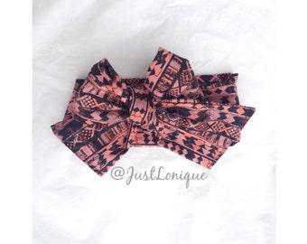 Pink Tribal Head Wrap