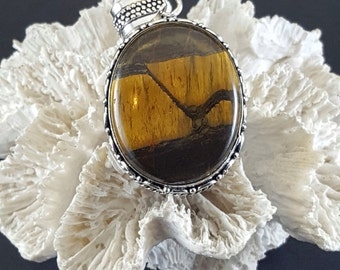Large Tigers Eye Pendant