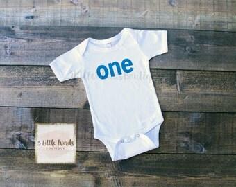 First Birthday Shirt | One Bodysuit | First Birthday Baby Shirt One Birthday Shirt | Boys | Girls