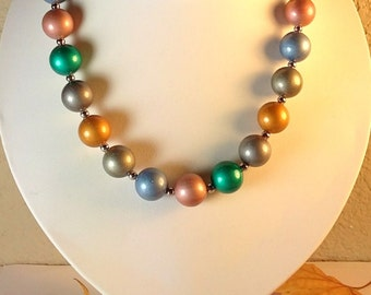 Vintage Lucite Bead Necklace