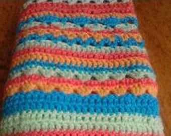 Baby crochet Blanket , Pastel baby blanket , Blue crochet blanket , Yellow Baby blanket , Baby shower , Newborn Baby gift , newborn blanket