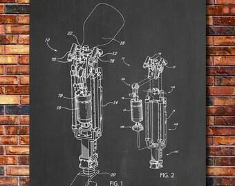 Prosthetic Leg Patent Print Art 2008