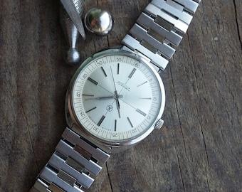USSR watch Russian vintage watch made in USSR in 1986s Raketa men's watch good condition 2609HA, 19 jewels