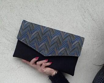 chevron clutch bag, envelope clutch, oversized clutch bag, pochette