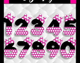 50% OFF SALE Numbers Minnie Mouse Clipart Number Scrapbook