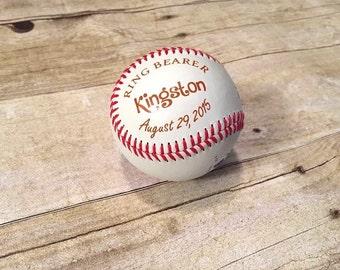 Ring Bearer Gift - Personalized Baseball - Wedding Party Gift - Wedding Keepsake - Groomsmen Gift - Best Man Gift - Wedding Party