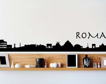 Rome Roma Italy City Skyline Wall Decal