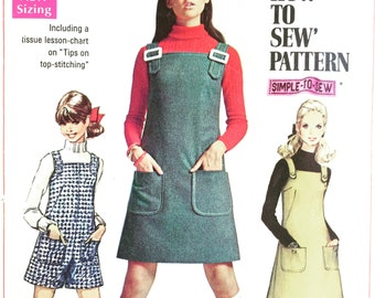 "1960's Mini Jumper Vintage Sewing Pattern ""How to Sew"" series"