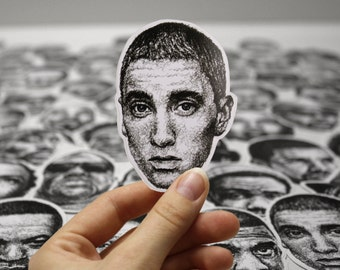 Scribbled Eminem - Vinyl Sticker