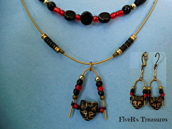 guitar string jewelry set necklace earring set recycled. Black Bedroom Furniture Sets. Home Design Ideas