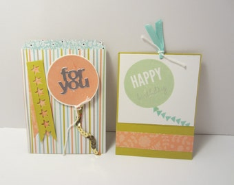 Striped Birthday Balloon Bag Gift Card Holder
