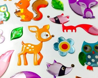Stickers - Forest Animal Crystal Stickers
