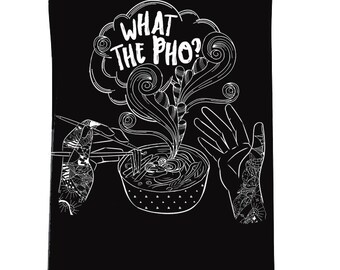 WHAT The PHO miso pho chinese takeout chopsticks womens tank / pho soup chinese food funny tank / flowy tank