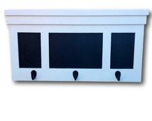 Hall Coat Rack Chalkboard, Pub Mirror, Key Rack Hooks, Upcycled, Repurposed