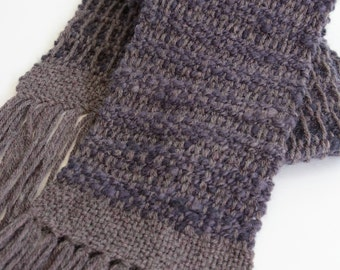 Hand Woven scarf with hand spun, plant dyed wool