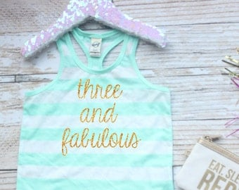 3rd birthday outfit, toddler birthday party, Glitter shirt, gold birthday party, three and fabulous