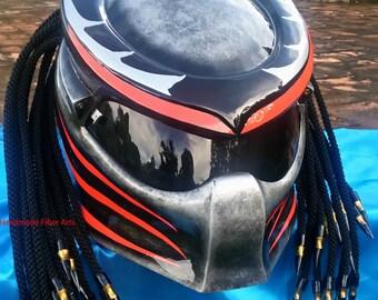casque de moto custom predator par predatorhelmet sur etsy. Black Bedroom Furniture Sets. Home Design Ideas
