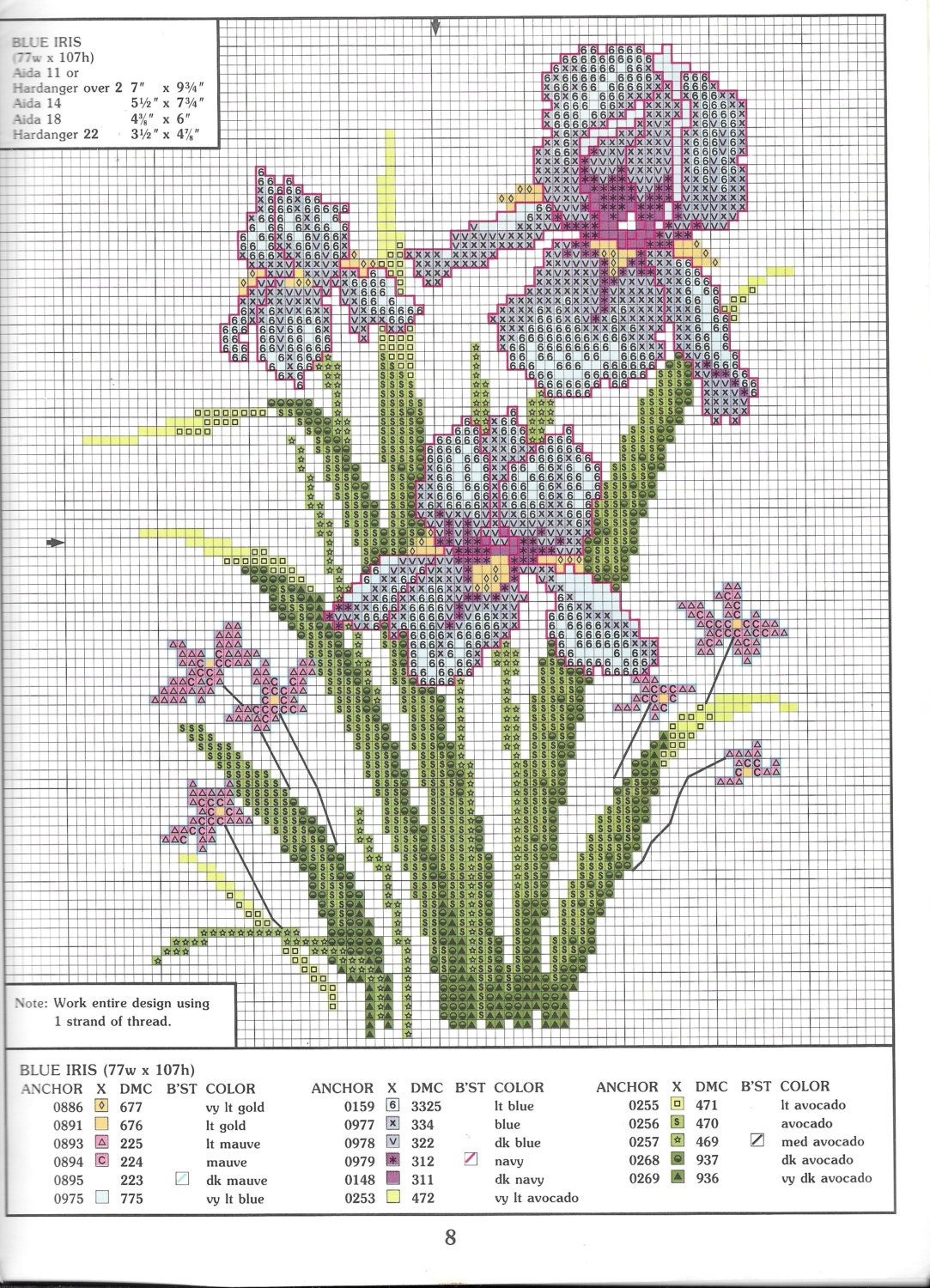 Earth awekens vintage cross stitch charts floral designs poppy sold by thefoundbox nvjuhfo Image collections