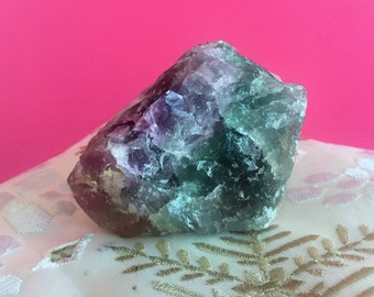 RAW Fluorite/Green Fluorite/Purple Fluorite/ Healing Crystal Stones infused with Reiki-
