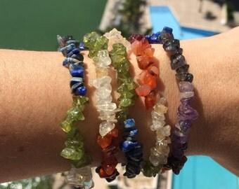 Chakra Jewelry Bracelet/ Reiki Jewelry/Chakra Stones