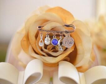 Bridal Charm Pin - Vintage Inspired