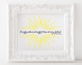 A single sunbeam is enough to drive out many shadows Print St. Francis of Assisi Printable, St Francis Print, St Francis quote, saint quotes
