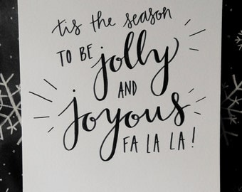 The Muppet Christmas Carol Quote // HANDMADE TO ORDER // Hand Lettering + Modern Calligraphy
