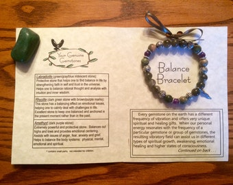 Balance Gemstone Bracelet, Healing, Energy