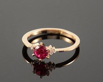 ring gold ruby etsy. Black Bedroom Furniture Sets. Home Design Ideas